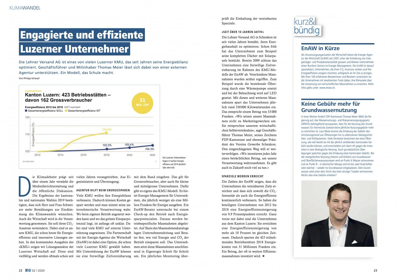 Engagierte und effiziente Luzerner Unternehmer